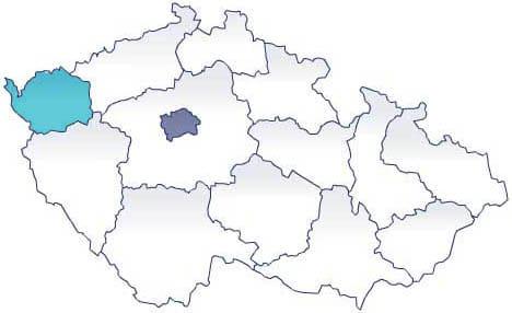 Карта: экскурсии AndyGo. Карловарский край