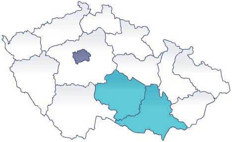Карта: экскурсии AndyGo по южной Моравии