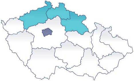 Карта: северная Чехия - экскурсии AndyGo