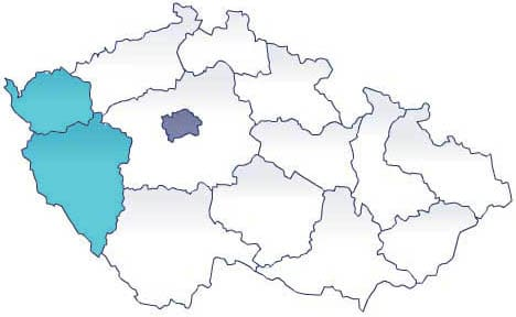 Карта Чехии. Экскурсии AndyGo по Западной Чехии