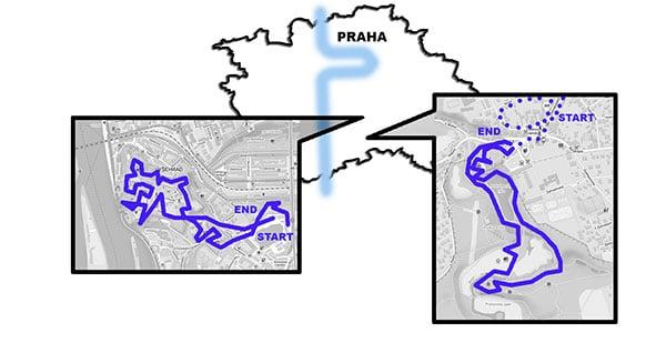 Карта Праги: маршрут AndyGo