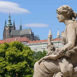 Вид на Пражский Град от Рудольфина